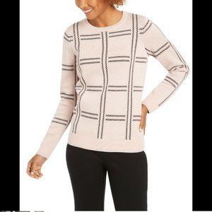 Charter Club Women's Printed Crewneck Sweater